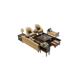 茶几凳子组合3d模型