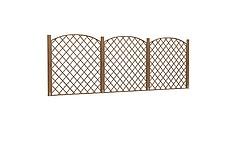 现代木质栏杆模型3d模型