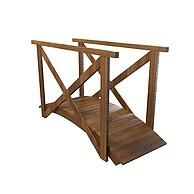 木质小拱桥3D模型3d模型