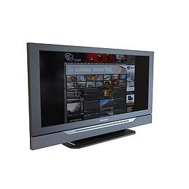 3d視聽房電視模型