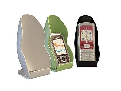 3d帶支架手機免費模型