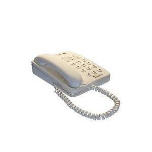 3d白色<font class='myIsRed'>電話</font>模型