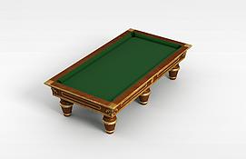 欧式台球桌3d模型
