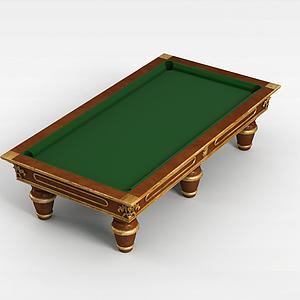 3d欧式台球桌模型