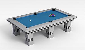 3d简式台球桌模型