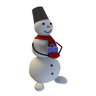 卡通小雪人3d模型