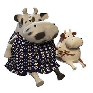 童趣奶牛玩具3d模型