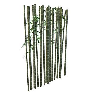 青色竹子3d模型