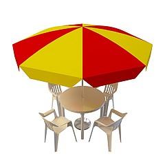 室外小遮阳伞模型3d模型