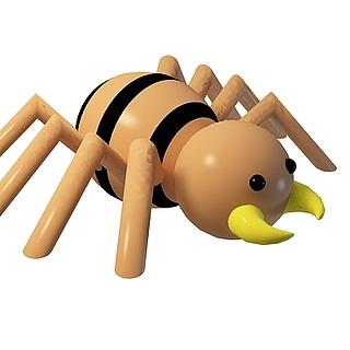 卡通蜘蛛3d模型