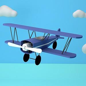 卡通飛機模型