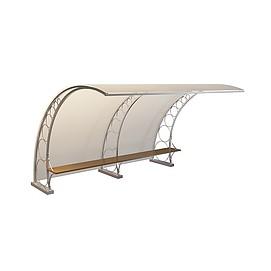 公交站长椅3d模型