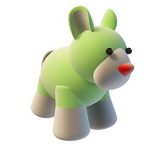 卡通小兔子3d模型