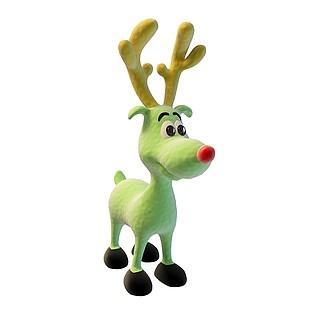卡通小麋鹿3d模型
