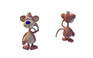 卡通小老鼠模型3d模型