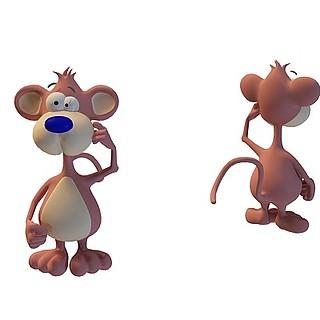 卡通小老鼠3d模型