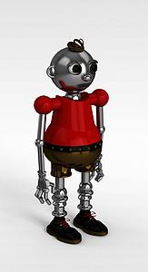 3d卡通<font class='myIsRed'>机器人</font>模型