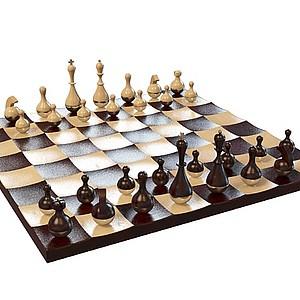 3d欧式<font class='myIsRed'>国际象棋</font>模型