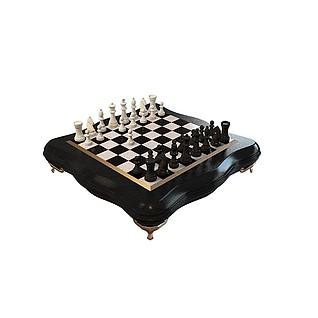 欧式国际象棋3d模型