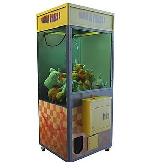 游戏厅娃娃机3d模型