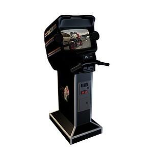 3d游戏厅电玩模型