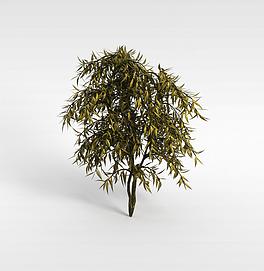 3d枯叶灌木模型