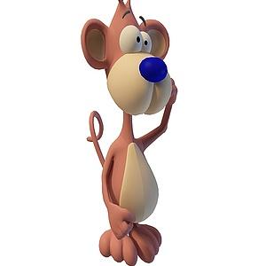 3d儿童小<font class='myIsRed'>猴子</font>模型