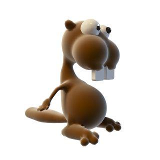 卡通大牙玩具3d模型