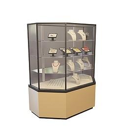 珠宝中岛柜3d模型