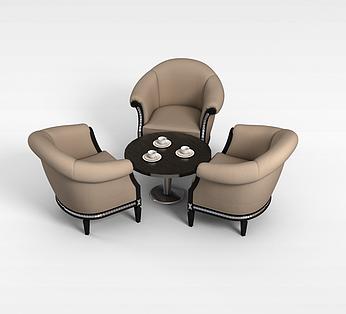 三人沙发茶几组合