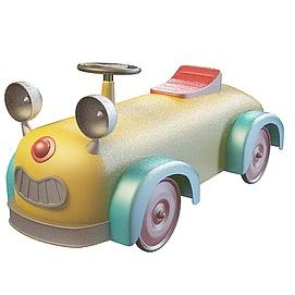 3d儿童玩具卡通车模型
