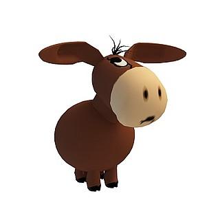 儿童驴玩具3d模型