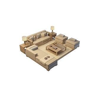 客厅沙发组合3d模型