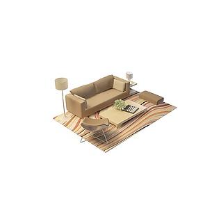现代沙发组合3d模型