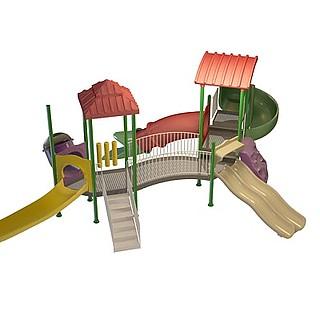 卡通滑滑梯3d模型