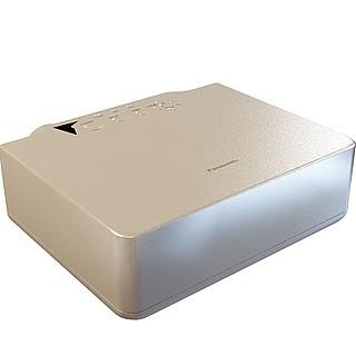 视听房投影机3d模型