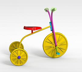 卡通<font class='myIsRed'>自行车</font>3d模型