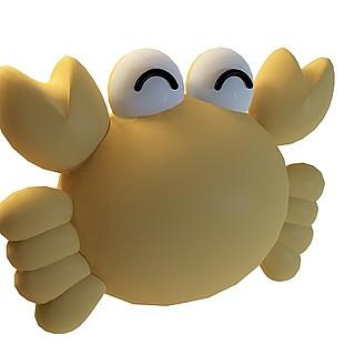 卡通大螃蟹3d模型