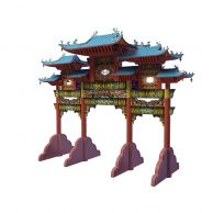 牌坊3D模型3d模型