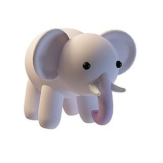 卡通小象3d模型