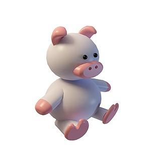 卡通小猪猪3d模型