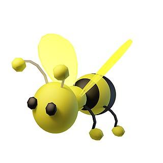 卡通小蜜蜂3d模型