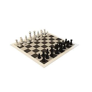 国际黑白象棋3d模型