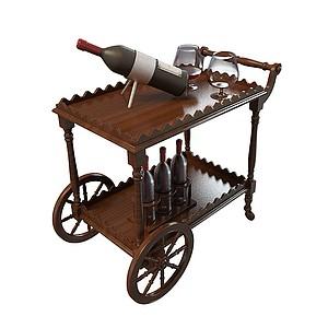 酒備餐車模型