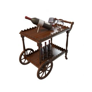 酒备餐车3d模型