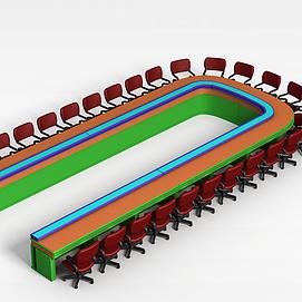 3d旋转桌椅模型