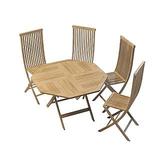 户外<font class='myIsRed'>实木桌椅</font>3d模型