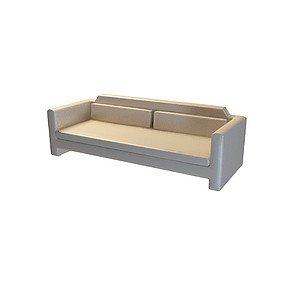 皮质双人沙发模型3d模型