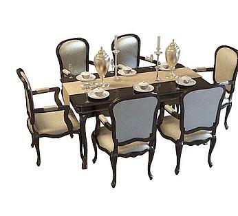 6人餐桌椅组合