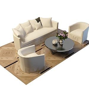3d<font class='myIsRed'>酒店沙发</font>茶几模型